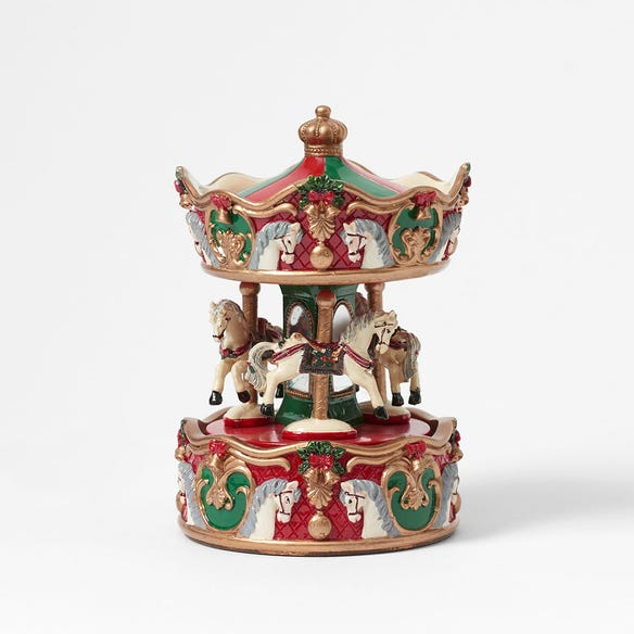 TOY_CG Musical Merry Go Rnd  / Red/Gold/Green