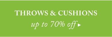 Throws & Cushions Sale