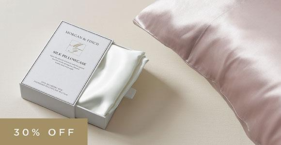 Save 30% on silk pillowcases